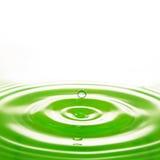 Verde del agua del descenso Fotografía de archivo libre de regalías
