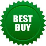 Verde del bollo della guarnizione di Best Buy Immagini Stock Libere da Diritti