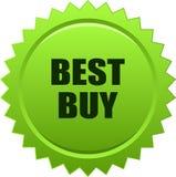 Verde del bollo della guarnizione di Best Buy Immagine Stock Libera da Diritti