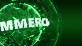 Verde del bromista de la introducción de Internet del comercio electrónico de las noticias de mundo ilustración del vector
