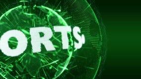 Verde del bromista de la introducción de los deportes del deporte de las noticias de mundo