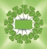 Verde del círculo del trébol del día del St. Patrick Fotos de archivo libres de regalías