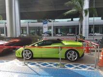 Verde del cabriolet del coupé di Lamborghini Gallardo Squadra Corse fotografia stock libera da diritti