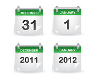 Verde del calendario Imagenes de archivo