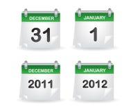 Verde del calendario Immagini Stock