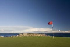 Verde del campo de golf en parque nacional de la bahía de la botánica Foto de archivo libre de regalías