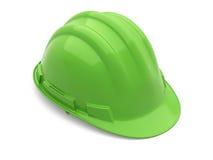 Verde del casco de seguridad Imagen de archivo libre de regalías