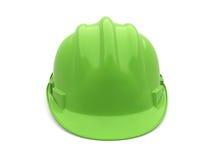 Verde del casco de seguridad Fotos de archivo