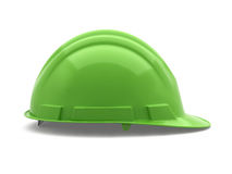 Verde del casco de seguridad Imagenes de archivo
