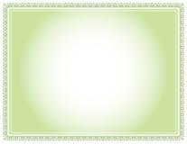Verde del certificato Fotografia Stock
