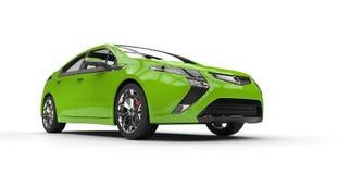 Verde del coche eléctrico - vista lateral ilustración del vector