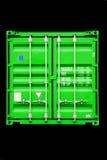 Verde del contenitore fotografie stock