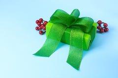 Verde del contenitore di regalo Immagine Stock Libera da Diritti
