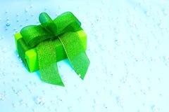 Verde del contenitore di regalo Fotografia Stock