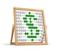 Verde del dólar del ábaco ilustración del vector