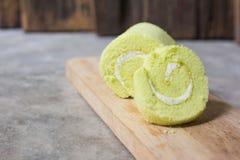 Verde del dolce del rotolo piccolo Immagini Stock Libere da Diritti