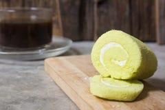 Verde del dolce del rotolo piccolo Immagine Stock