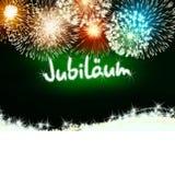Verde del fuego artificial del aniversario del jubileo de Jubiläum del alemán Imagen de archivo