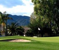 Verde del golf Foto de archivo libre de regalías