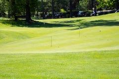 Verde del golf Fotografía de archivo libre de regalías