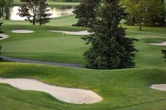 Verde del golf Imágenes de archivo libres de regalías