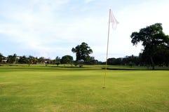 Verde del golf Imagen de archivo