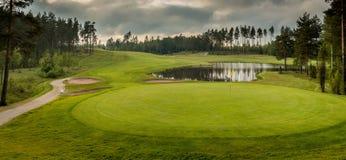 Verde del golf Foto de archivo