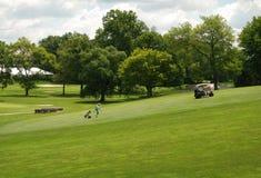 Verde del golf en el campus de la Universidad de Princeton Foto de archivo libre de regalías