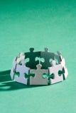 Verde del gruppo del puzzle Fotografie Stock Libere da Diritti