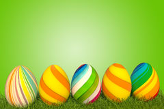 verde del huevo de Pascua del ejemplo 3d Imagen de archivo