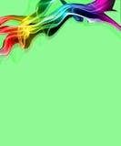 Verde del humo del arco iris Imagen de archivo libre de regalías