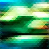 Verde del mosaico del fondo in basso poli Fotografia Stock