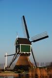 Verde del mulino a vento Immagine Stock