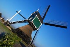 Verde del mulino a vento fotografia stock libera da diritti
