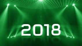 Verde del nuovo anno 2018 di illuminazione illustrazione vettoriale
