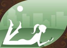 Verde del paisaje urbano ilustración del vector