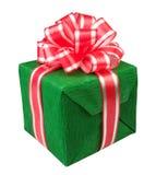 Verde del presente del contenitore di regalo Fotografie Stock Libere da Diritti