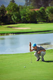 Verde del putt del golf Imagen de archivo