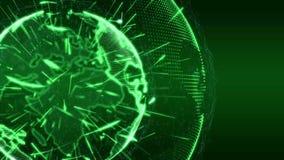 Verde del rompicapo di introduzione del globo di notizie di mondo illustrazione di stock