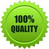 Verde del sello del sello de la estrella de la calidad stock de ilustración