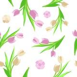 Verde del vector del fondo de la flor del modelo Foto de archivo libre de regalías