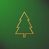 Verde dell'albero di Natale Fotografia Stock Libera da Diritti