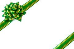 Verde dell'arco dell'involucro di regalo Immagini Stock