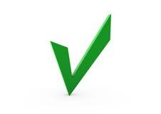 verde dell'assegno 3d Fotografia Stock