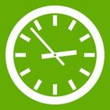 Verde dell'icona dell'orologio royalty illustrazione gratis