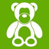 Verde dell'icona dell'orsacchiotto Immagine Stock