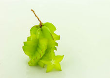Verde della carambola Fotografia Stock