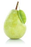 Verde della frutta della pera isolato su bianco Immagine Stock