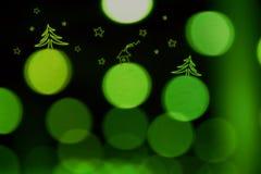 Verde della sfuocatura di Cristmas Fotografie Stock Libere da Diritti