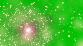 Verde della strofinata della stella stock footage